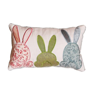 Cabana Bunny Love Cotton Lumbar Pillow