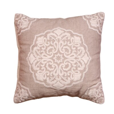 Cabana Medallion Linen Throw Pillow
