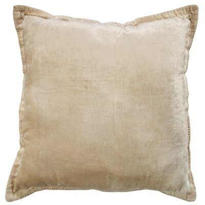 Cabana Velvet Throw Pillow Color: Ivory