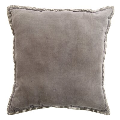 Cabana Velvet Throw Pillow Color: Light Gray