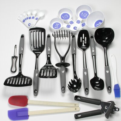 23 Piece Nylon Select Kitchen Tool and Gadget Utensil Set Color: Gray 42065