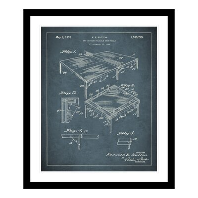 1952 Ping Pong Table Patent Framed Graphic Art 1264236-1620FD