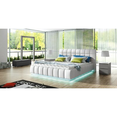 Bordeaux Modern Upholstered Platform Bed Size: Queen