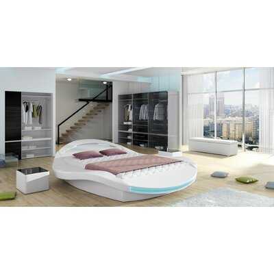 Borgholm Modern Queen Upholstered Storage Platform Bed