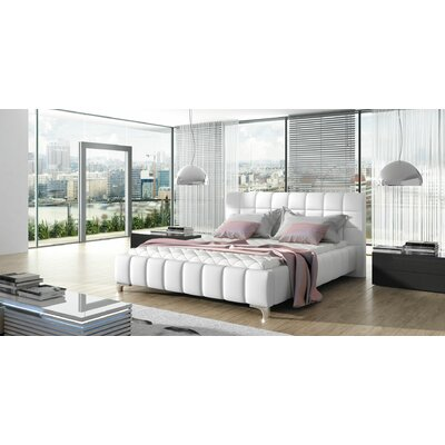 Borgata Modern Queen Upholstered Panel Bed