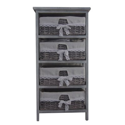 Soft Gray Wood Cabinet
