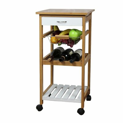 Natural Kitchen Cart