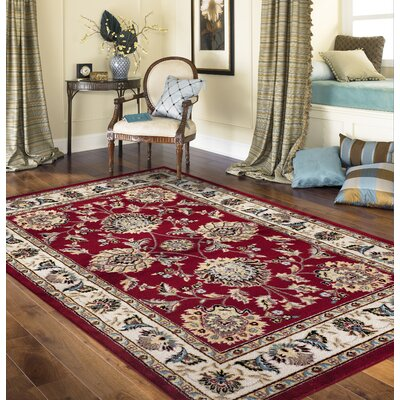 Toscana Red Area Rug Rug Size: Rectangle 2 x 3