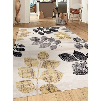Toscana Cream/Yellow Area Rug Rug Size: Rectangle 2 x 3