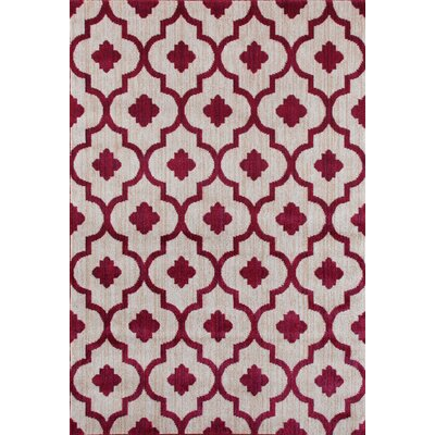 Loft Red Area Rug Rug Size: 53 x 73