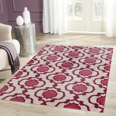 Loft Pink Area Rug Rug Size: Rectangle 53 x 73