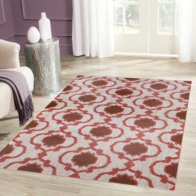 Loft Orange Area Rug Rug Size: 53 x 73