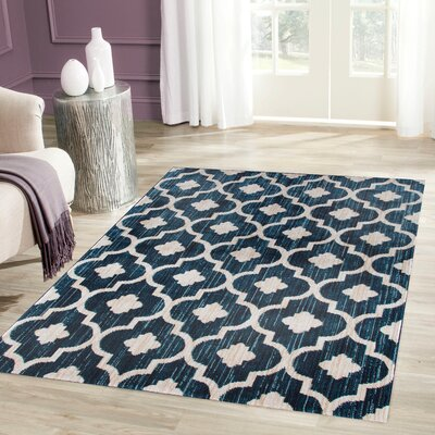 Loft Blue Area Rug Rug Size: Rectangle 53 x 73