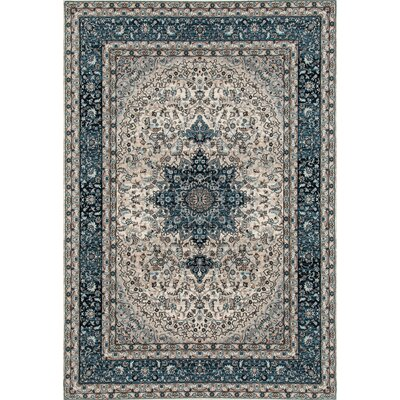 Elite Blue Area Rug Rug Size: 53 x 73