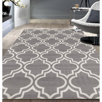 Freeman Gray Area Rug Rug Size: 5 x 7
