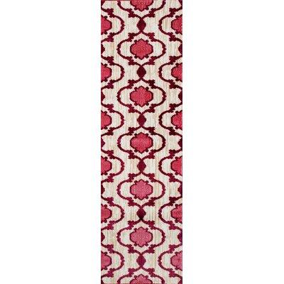 Loft Pink/Red Area Rug Rug Size: Runner 2 x 72