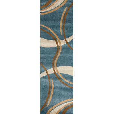 Penny Blue/Beige Area Rug Rug Size: Rectangle 53 x 73