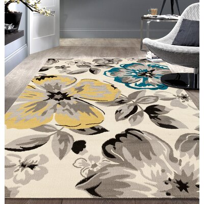 Katelyn Cream Area Rug Rug Size: 76 x 95