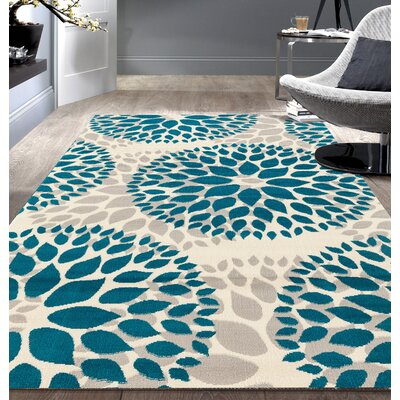 Wallner Blue Area Rug Rug Size: 76 x 95