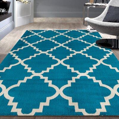 Newport Blue Area Rug Rug Size: 76 x 95