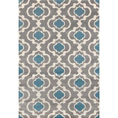 Melrose Gray/Blue Area Rug Rug Size: 33 x 5