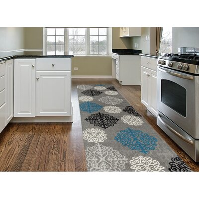 Lebouef Gray Area Rug Rug Size: Runner 2 x 72