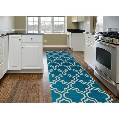 Newport Blue Area Rug Rug Size: Runner 2 x 72