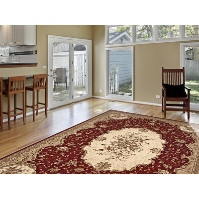 Classique Red Area Rug Rug Size: 33 x 5