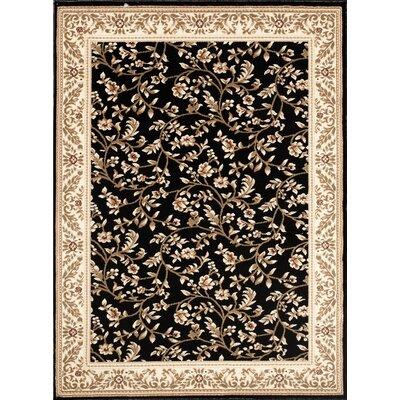 Classique Black Area Rug Rug Size: 53 x 73