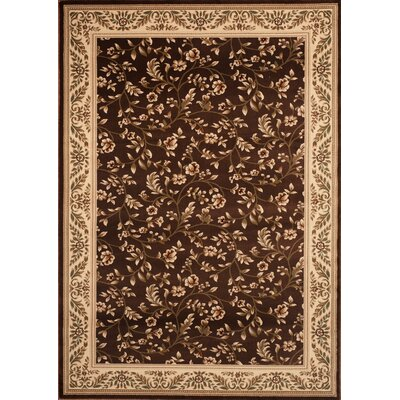 Classique Brown Area Rug Rug Size: 76 x 95