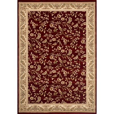 Classique Red Area Rug Rug Size: 9 x 12