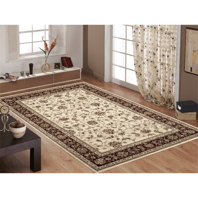 Classique Ivory Area Rug Rug Size: 2 x 3
