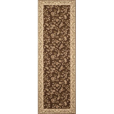 Classique Brown Area Rug Rug Size: Runner 2 x 72