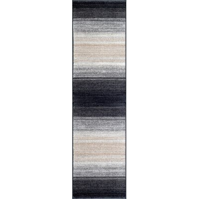 Quicksilver Gray/Black Area Rug Rug Size: Runner 2 x 72