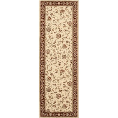 Classique Ivory Area Rug Rug Size: Runner 2 x 72