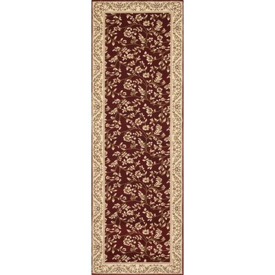 Classique Red Area Rug Rug Size: Runner 2 x 72
