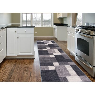 Pamplin Gray Area Rug Rug Size: Runner 11 x 7