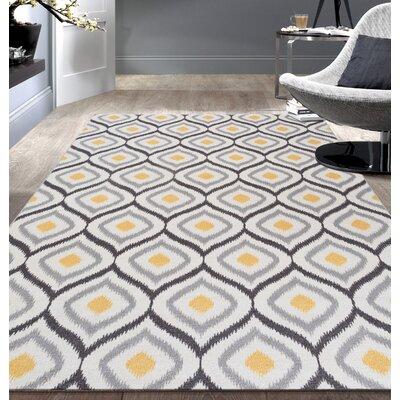 Walmsley Moroccan Gray/Yellow Area Rug Rug Size: 53 x 73
