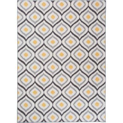 Walmsley Moroccan Gray/Yellow Area Rug Rug Size: 5'3