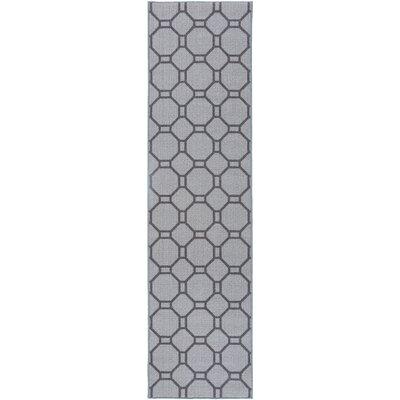 Walmsley Geometric Gray Area Rug Rug Size: Runner 11 x 7