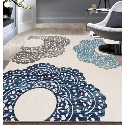 Raynor Blue Floral Area Rug Rug Size: 710 x 10