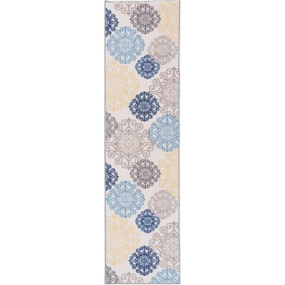 Raynor Floral Swirl Cream Area Rug Rug Size: Runner 11 x 7