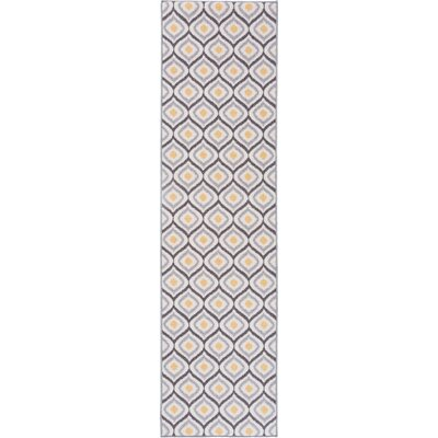 Walmsley Moroccan Gray/Yellow Area Rug Rug Size: Runner 11 x 7