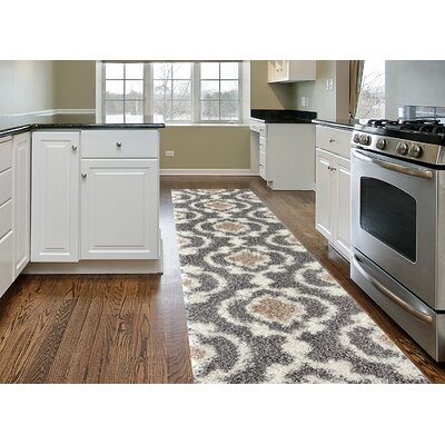 Hegwood Gray Area Rug Rug Size: Runner 2 x 72