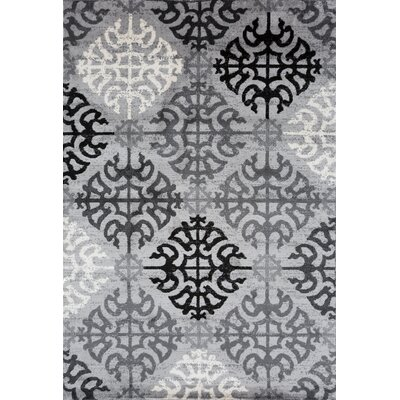 Lanora Geometric Gray Area Rug Rug Size: 710 x 102