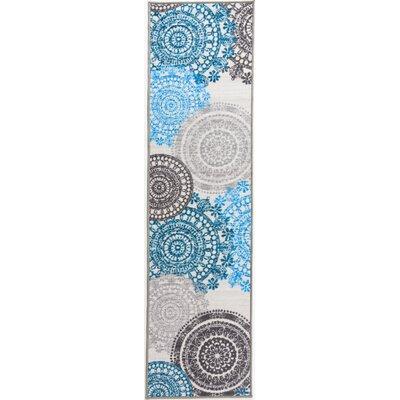Ethel Modern Circles Non-Slip Cream Area Rug Rug Size: 110x7