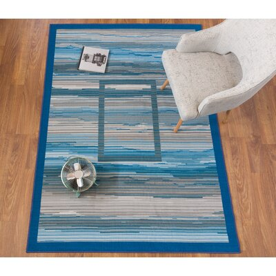 Donatien Contemporary Striped Design Non-Slip Gray Area Rug Rug Size: Rectangle 7'10