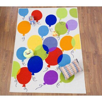 Karyn Contemporary Balloon Non-Slip Green/Blue Area Rug
