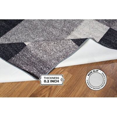 Jerrell Gray Area Rug Rug Size: 17 x 25