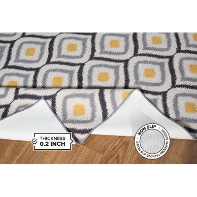 Walmsley Moroccan Gray/Yellow Area Rug Rug Size: 17 x 25